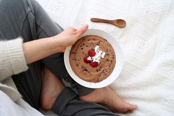 Nutellaless Bananaless Chocolate Nicecream