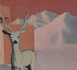Deers Morning - Diptyque - 40 x 40 Cm