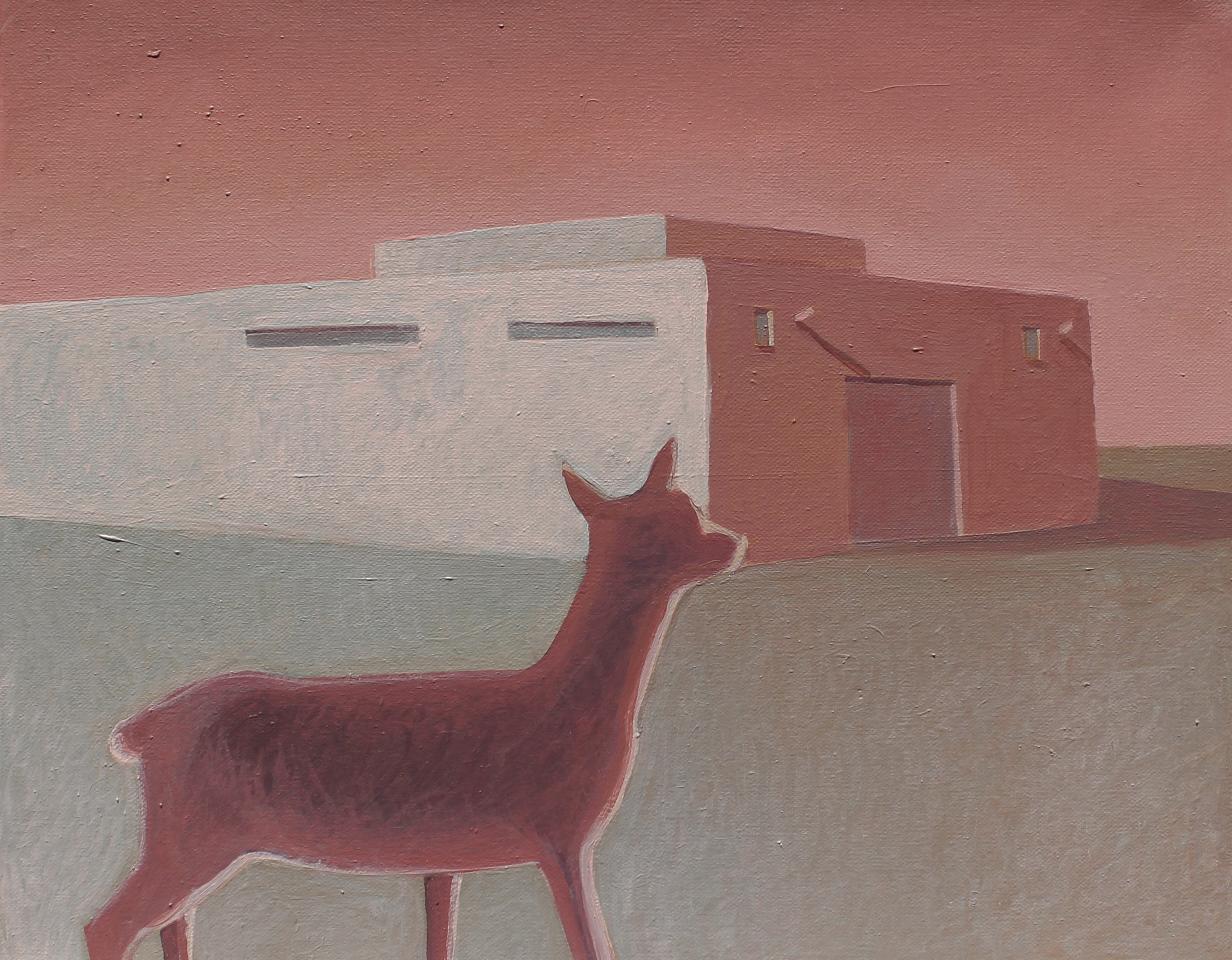 Deer Early Morning - 40 x 50 Cm