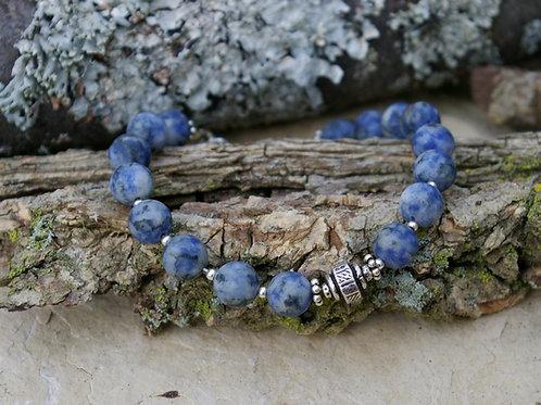 Lapis Bracelet Yoga meditation crystal jewelry by Wicked Stones in Canada