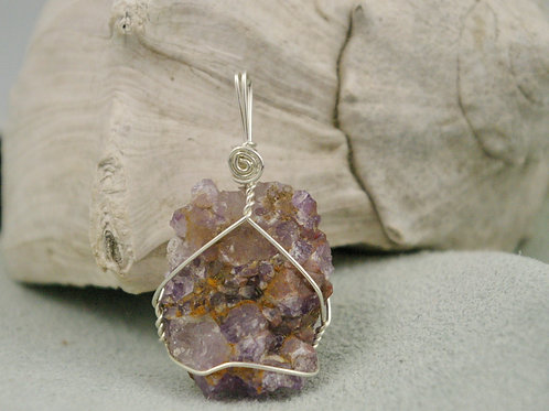 Ontario Amethyst cluster pendant jewelry made by Wicked Stones in Canada