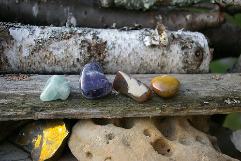 Power and battle crystal healing set handmade in Canada to help you get through stress