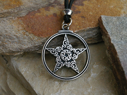 Ornate lead free pewter ritual witchcraft jewelry at Wicked Stones in Canada