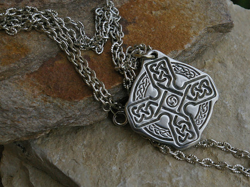 Large pewter celtic cross pendant from Wicked Stones in Canada