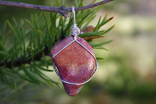 Agatized coral crystal jewelry hand made in Canada for healing