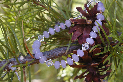 Purple faceted healing crystal bracelet canada
