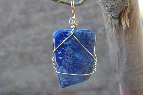 Lapis healing crystal jewelry for depression and sadness by Wicked Stones in Canada