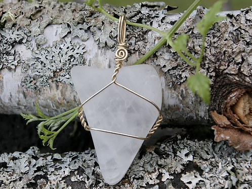 Ontario Quartz Large Crystal Necklace