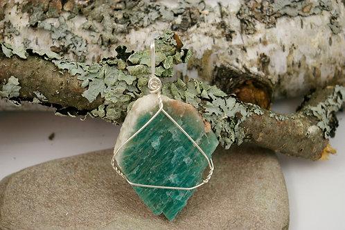 Amazonite Calming Crystal Pendant
