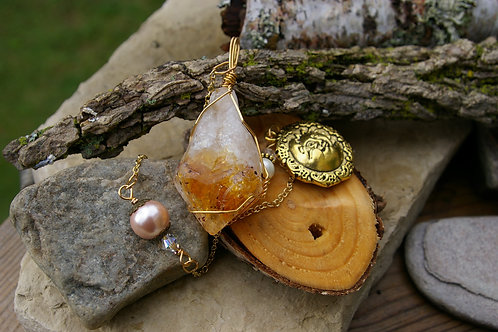 Citrine Pendulum hand made by Wicked stones in Canada