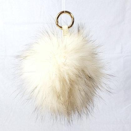 Pompon Bijou de Sac - modèle ivoire taille L