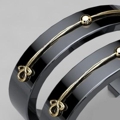 Bangles EMPIRE 1 - Duo or jaune