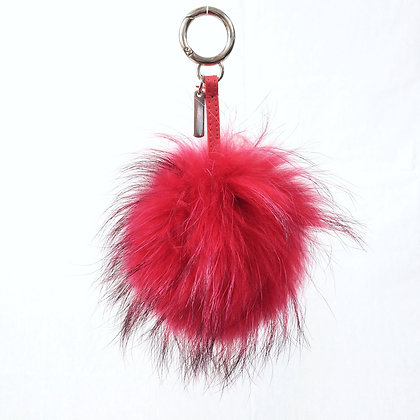 Pompon Bijou de Sac - modèle rouge taille M