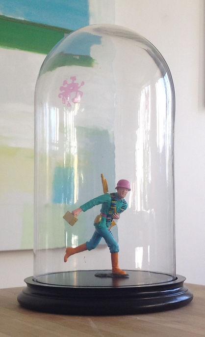 Plastic model figure repainted in acrylic paint