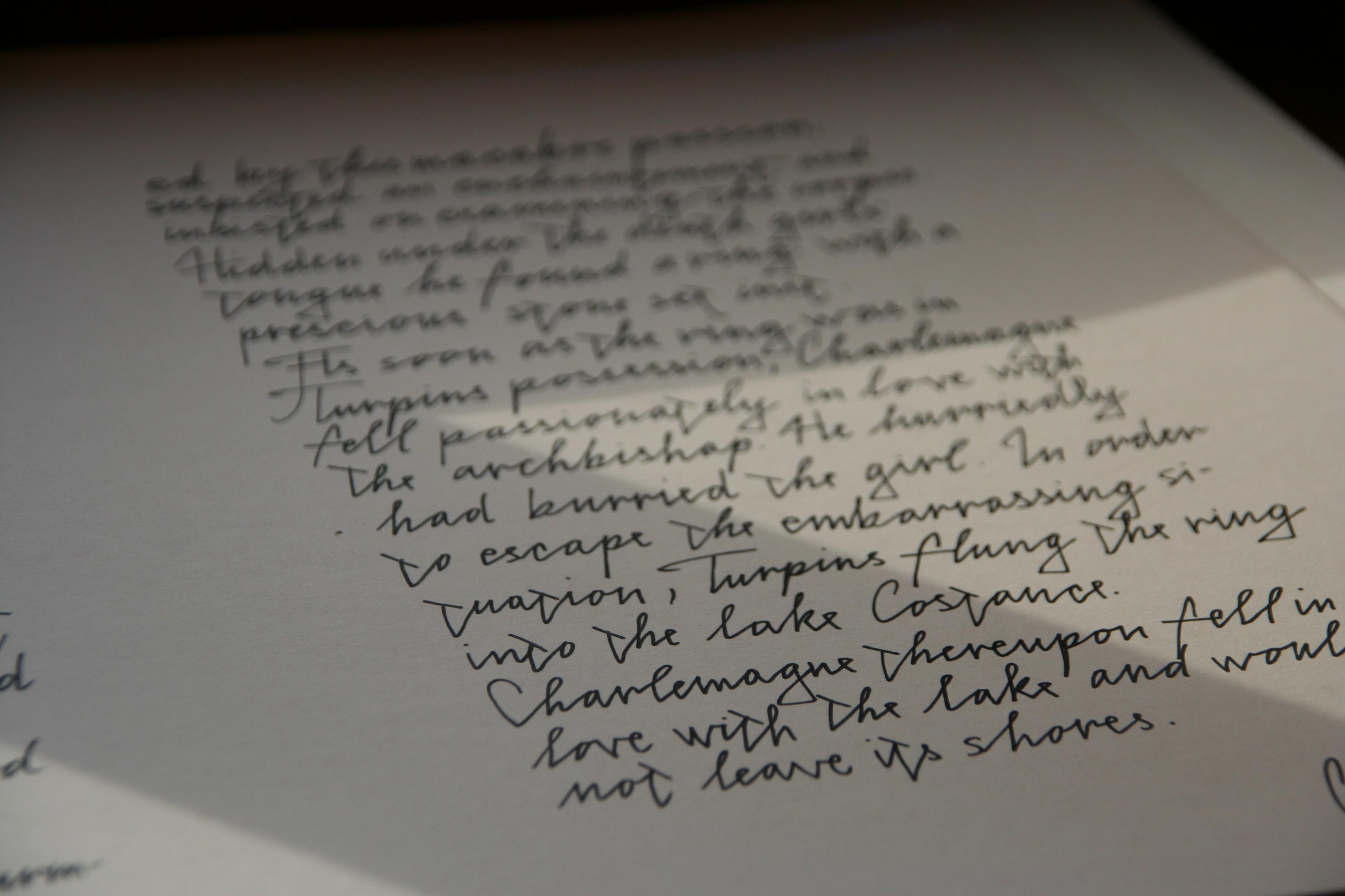 calligrafical work