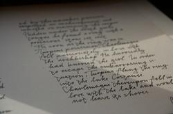 calligrafical work - ideengarten
