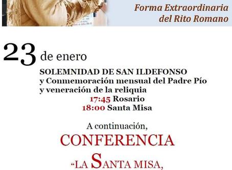 Misa Solemne y Conferencia en la conmemoración del Padre Pío del mes de enero