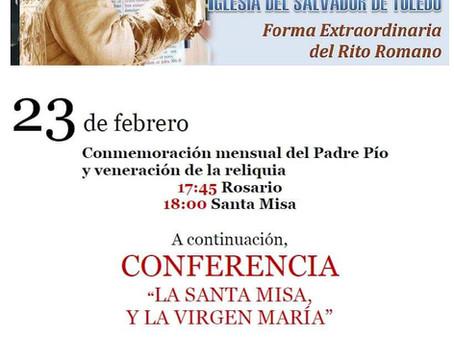 Misa Solemne en la Conmemoración del Padre Pío y Conferencia