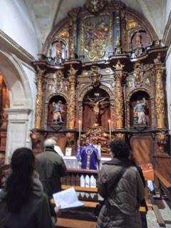 Misa Tradicional en la iglesia de Santo Domingo en Betanzos el 26 de enero