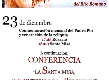 Diez años de la Misa Tradicional en Toledo: Celebración del Padre Pío de diciembre