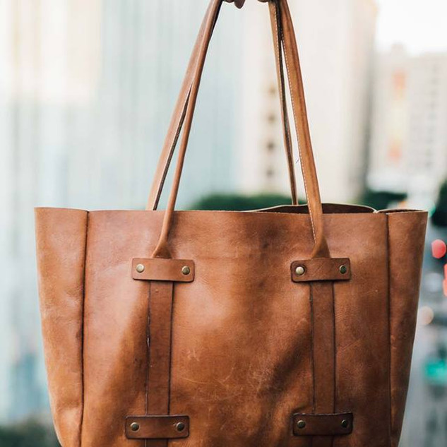 Women's Brown Leather Tote