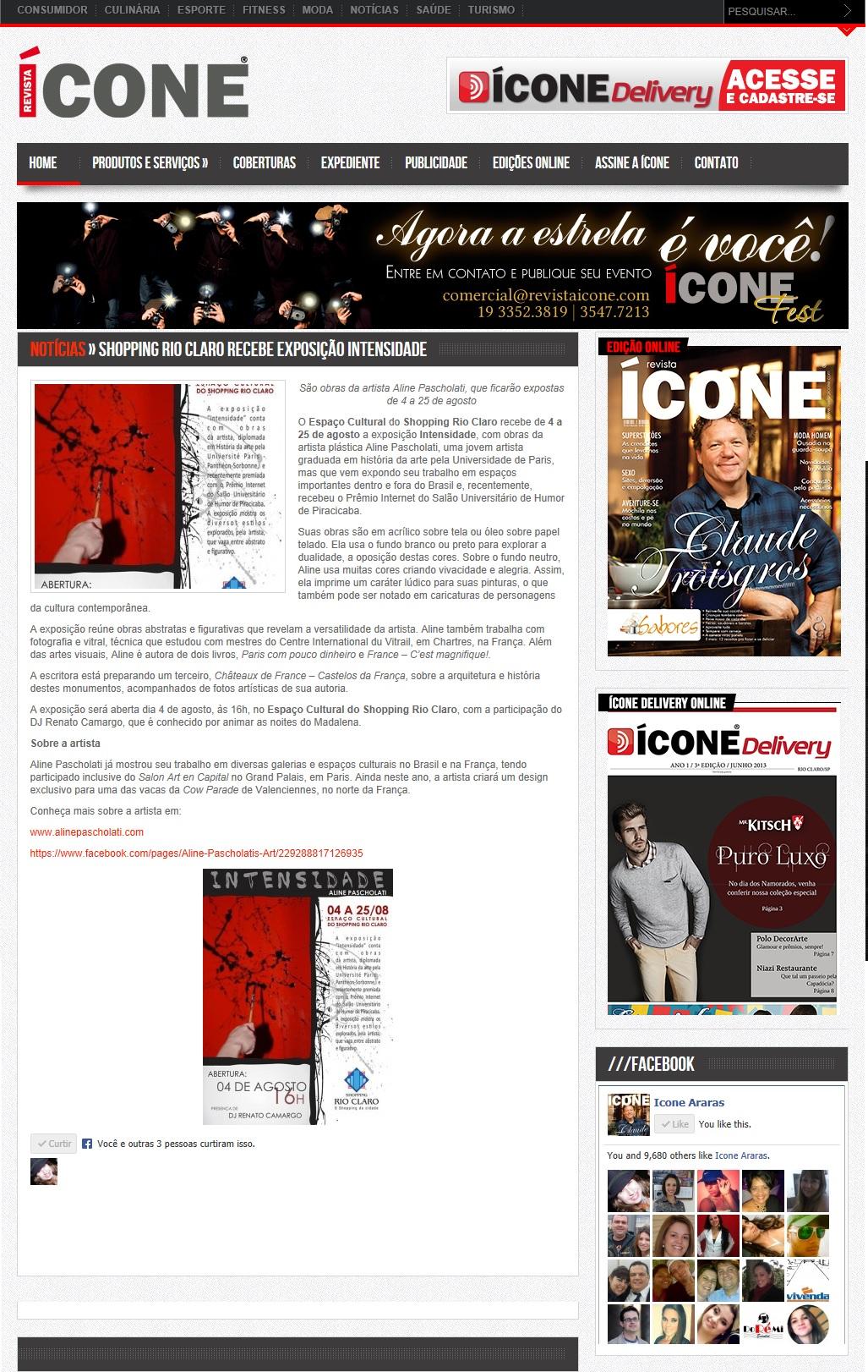 Website Revista Ícone