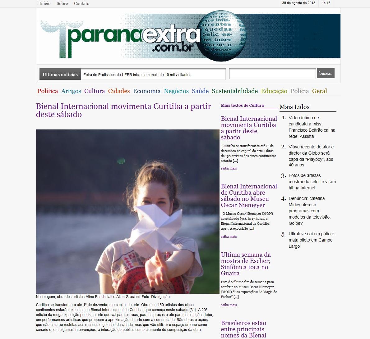 Website Paraná Extra