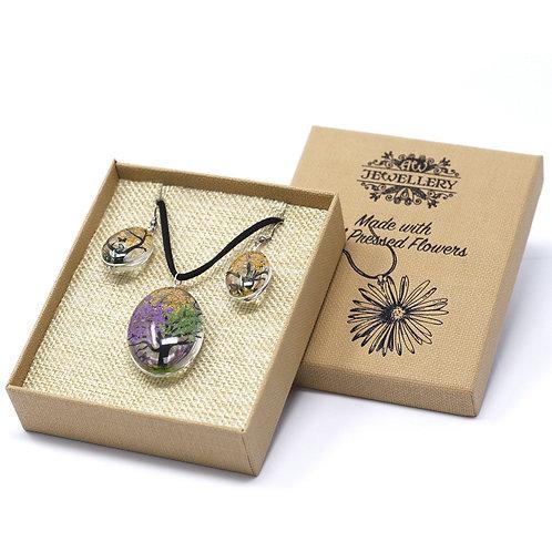 Pressed Flower Jewellery Set- Mixed