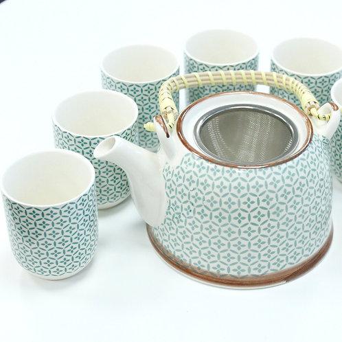 Herbal Tea Set- Green Mosaic