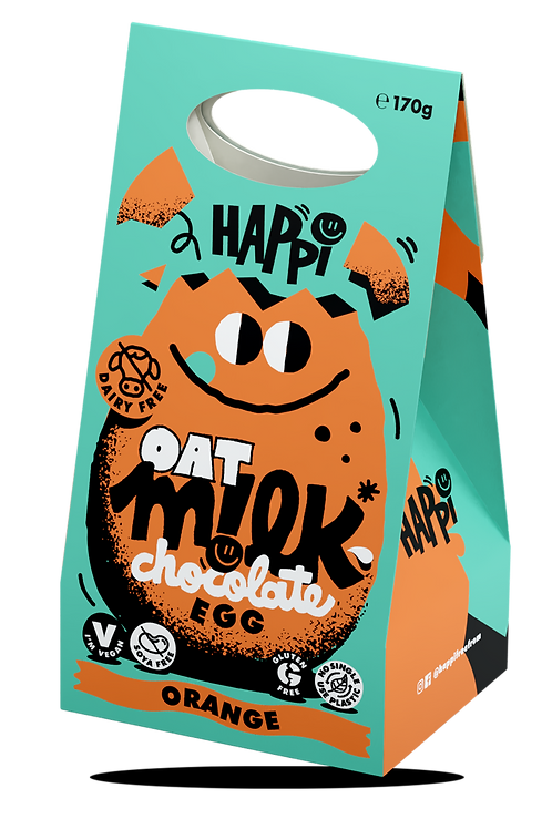 Oat M!lk Chocolate Easter Egg- Orange