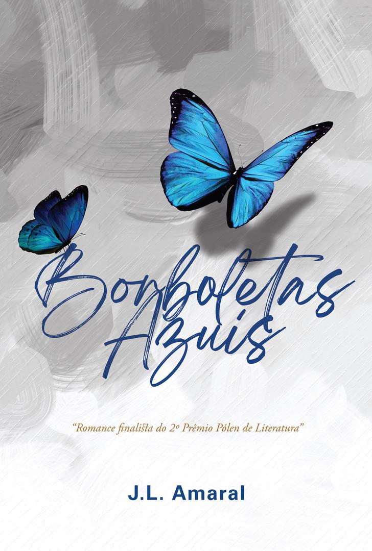 Capa de livro de romance Borboletas Azuis