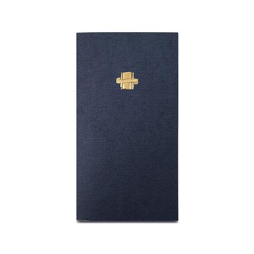 KEEP A NOTEBOOK | A5 Slim No.18 Memo 便箋筆記(藍鐵)| CKN-034C