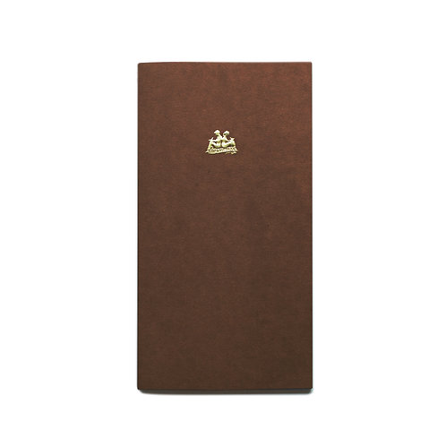 KEEP A NOTEBOOK 寫筆記 | A5 Slim No.15 Scrapbook 原色牛皮筆記(焦茶) | CKN-024