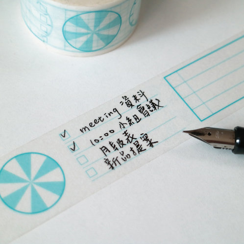 KEEP A NOTEBOOK 寫筆記 | Washi Masking Tape (Notebook Mate)紙膠帶 1 roll | CKN-026