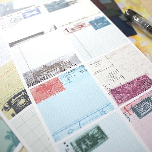 KEEP A NOTEBOOK 寫筆記 | Adhesive Sheets A5 Slim 和紙貼 3pcs a set| CKN-007