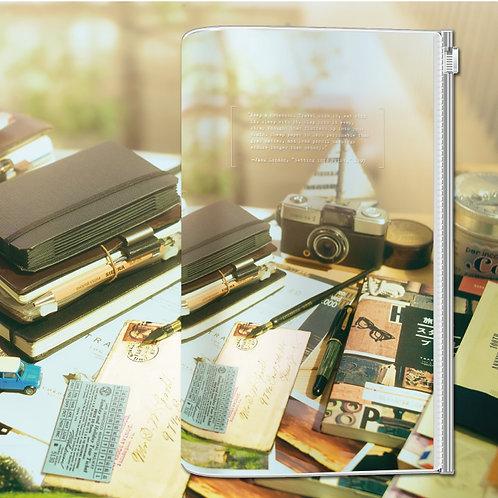 KEEP A NOTEBOOK 寫筆記 | A5 Slim Zipper Pocket 透明隨行書衣(窗邊玲瓏)| CKN-033D