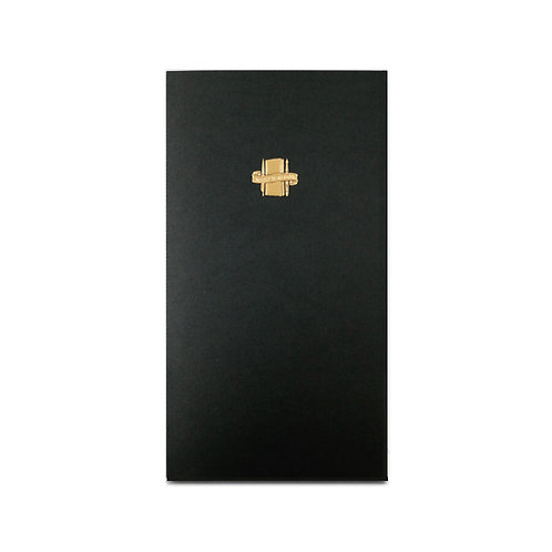 KEEP A NOTEBOOK | A5 Slim No.18 Memo 便箋筆記(墨黑)| CKN-034B