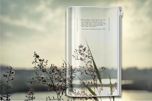 KEEP A NOTEBOOK 寫筆記 | A5 Slim Zipper Pocket 透明隨行書衣(左岸姿曳)| CKN-003D