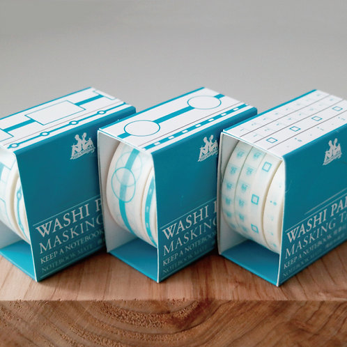 KEEP A NOTEBOOK 寫筆記 | Washi Masking Tape 紙膠帶 2rolls or 4rolls a set | CKN-025