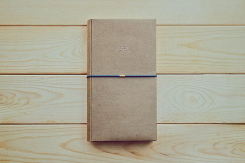 KEEP A NOTEBOOK 寫筆記 | A5 Slim DIY Bookcover 多功能紙書衣(原色牛皮)| CKN-004A
