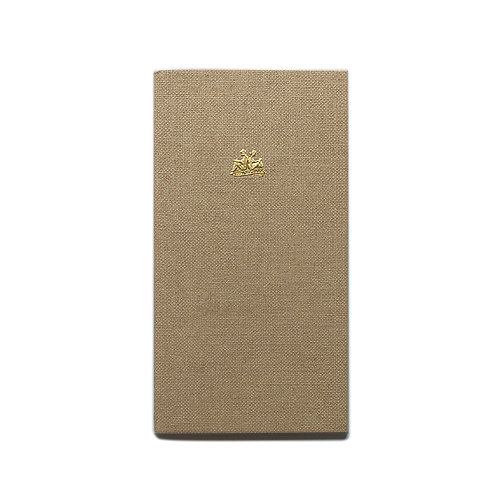 KEEP A NOTEBOOK 寫筆記 | A5 Slim No.14 Postcard Notebook 明信片筆記(白茶) | CKN-023