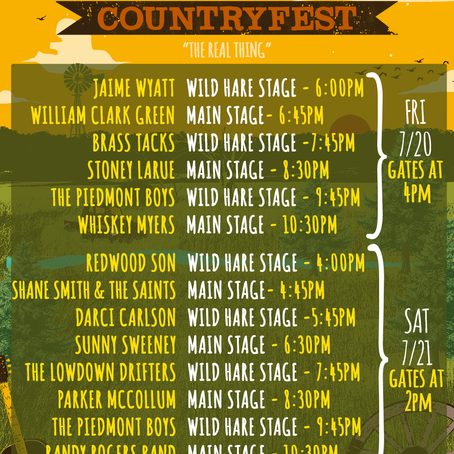 Oregon Bound to the Wild Hare Country Music Festival