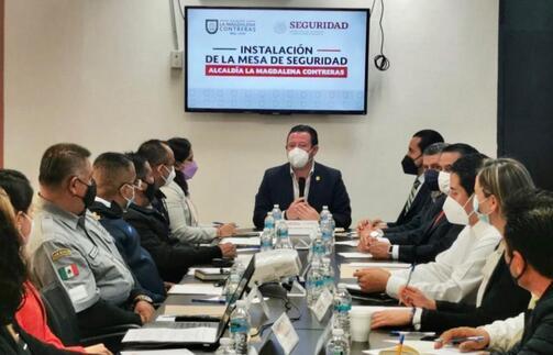 Se instala mesa de seguridad en La Magdalena Contreras