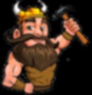 Viking Roofing Mascot