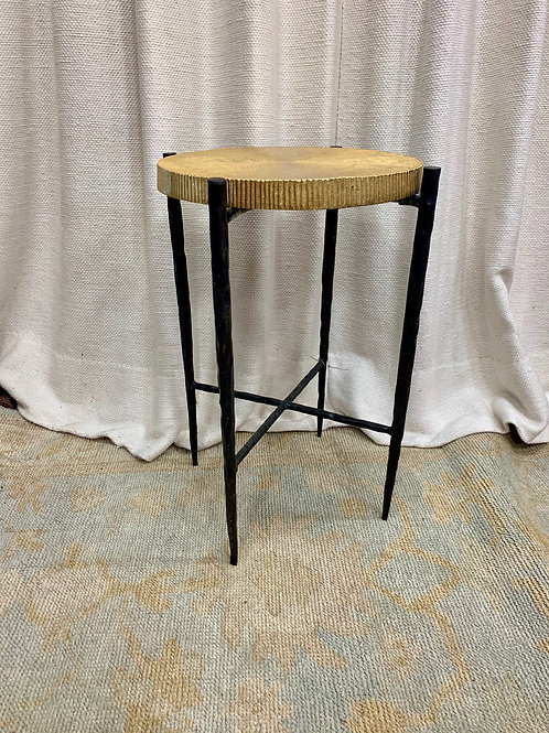 Black Oxidized Gold Accent Table
