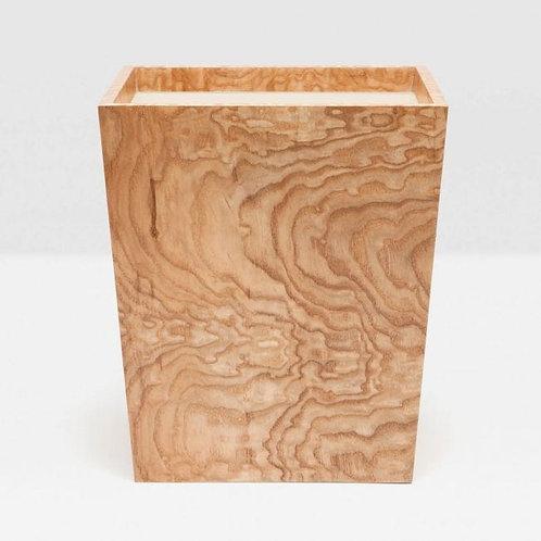 Tamo Ash Wood Veneer Square Waste Basket