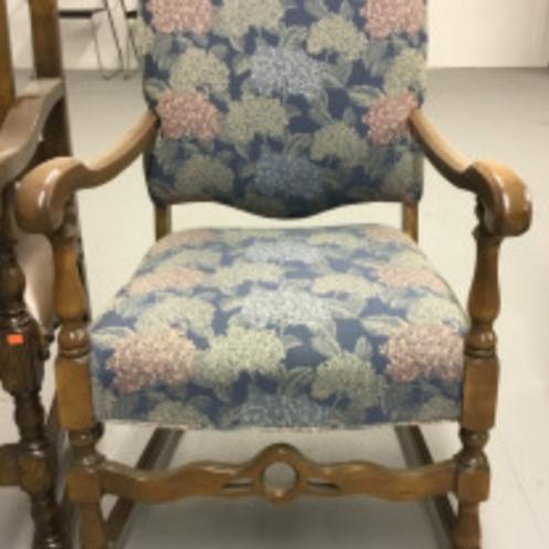 Floral Printed Armchair