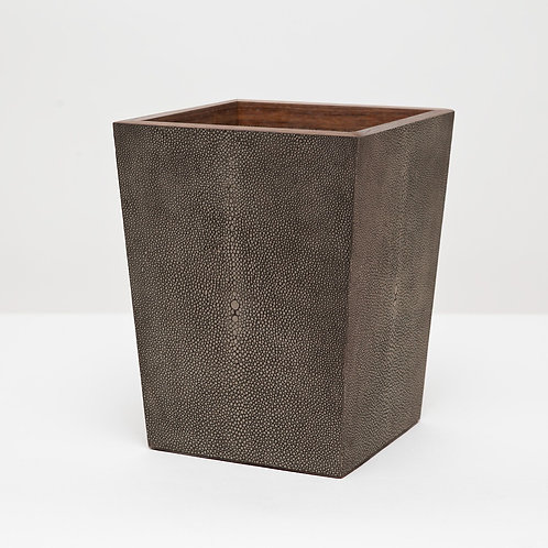 Faux Shagreen Wastebasket with Liner