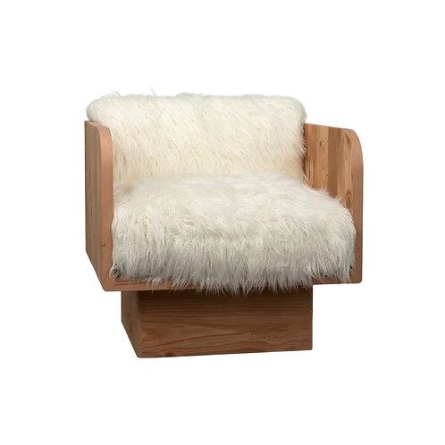 Reclaimed Douglas Fir Wood Fuzzy Chair