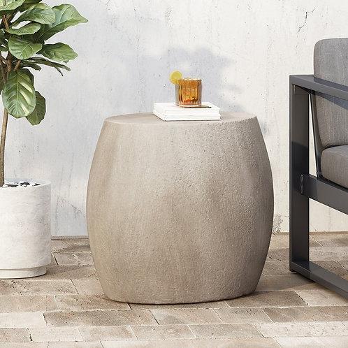 Gray Concrete Side Table